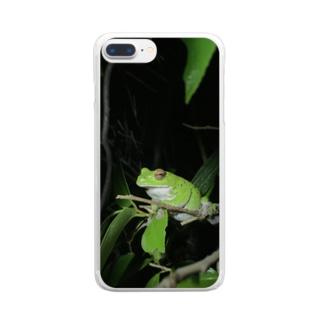 モリアオガエルさん Clear smartphone cases