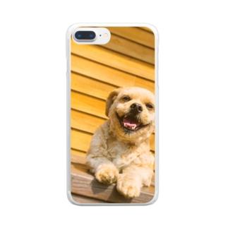 飼い犬 Clear smartphone cases