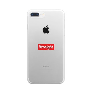 Straight Clear smartphone cases