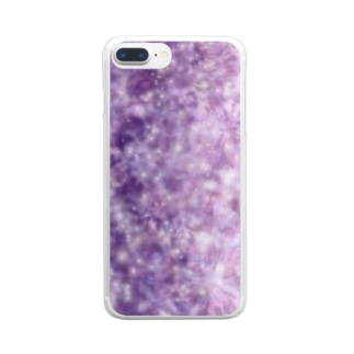 宇宙はかわいい Clear smartphone cases
