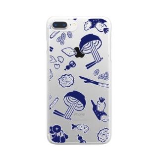 うどん屋にありそうなグッズ Clear smartphone cases