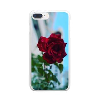 そこら辺のバラ Clear smartphone cases