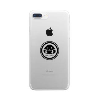 めぐり屋さんのめぐりロゴ Clear smartphone cases
