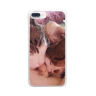 ツック&つくね Clear smartphone cases