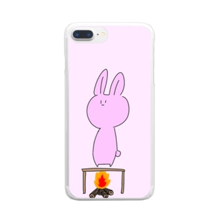 火あぶりうさぎ Clear smartphone cases