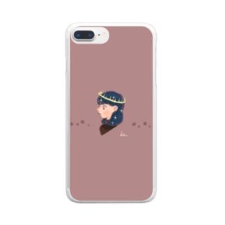 星の女神 Clear smartphone cases