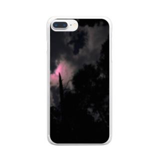 あかいつき Clear smartphone cases