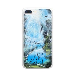 空と海 Clear smartphone cases