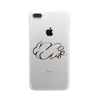 mofumofu オリジナルロゴグッズ Clear smartphone cases