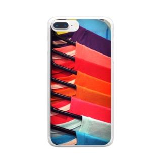 zakkaya 雑貨屋 孵 kaeruのTシャツカラーサンプル Clear smartphone cases