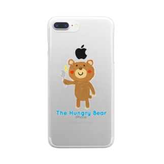 The Hungry Bear ロゴあり Clear smartphone cases