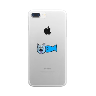 まりうお Clear smartphone cases