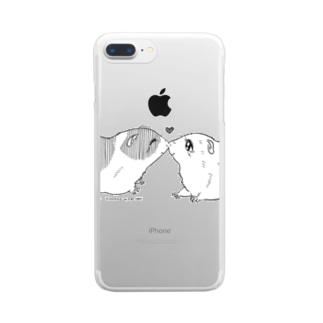 モルモット001 Clear smartphone cases