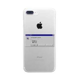 Windows エラーメッセージ Clear smartphone cases