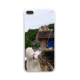 ぺろぺろ Clear smartphone cases