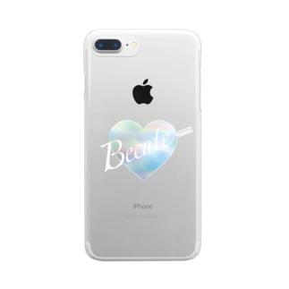 オーロラアローハート Clear Smartphone Case