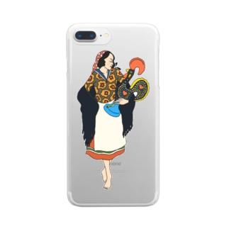 ポルトガル夫人 Clear smartphone cases