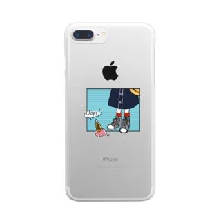ハルイロのOops! Clear smartphone cases