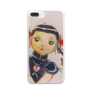 yonshirouの恋する乙女万代 Clear smartphone cases