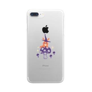 夜の森(うさぎ) Clear smartphone cases