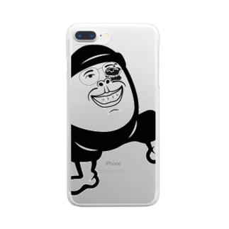 ウジたま『flatman.デザイン』 Clear smartphone cases