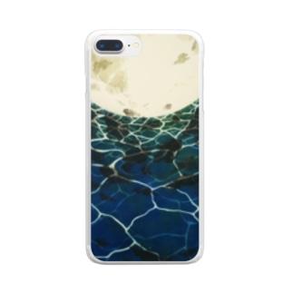 海・月光 Clear smartphone cases