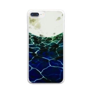 shrimp3dayoの海・月光 Clear smartphone cases