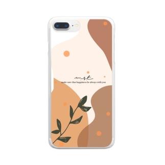 ボーホーナチュラルスタイル Clear smartphone cases