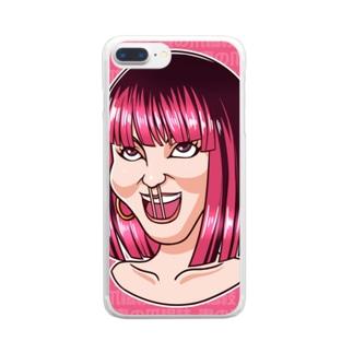 妻の爪楊枝 Clear smartphone cases