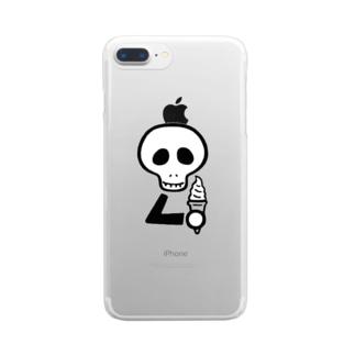 スカルンバ( ソフトクリーム) Clear Smartphone Case