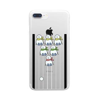 ゆきだるまボーリング Clear smartphone cases
