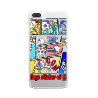 LINEスタンプ「モヒオの気持ち」 Clear smartphone cases