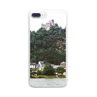 ドイツ:シェーンブルク城 Germany: Schönburg am Rhein Clear smartphone cases