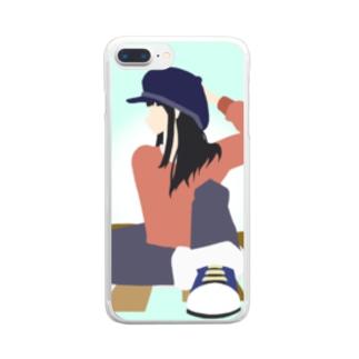 チキンサラダ Clear smartphone cases