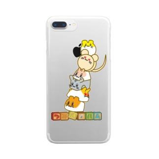 タワーだ!つみきハム!! Clear smartphone cases