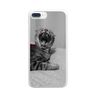ねこ6 Clear smartphone cases