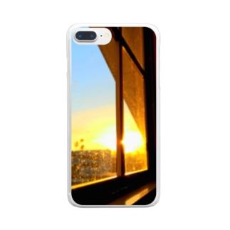 窓の向こう Clear Smartphone Case