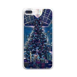 [アート風]クリスマスの魔法 Clear smartphone cases