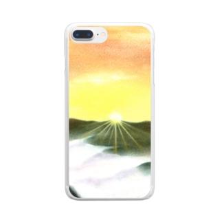 始季彩@suzuriの曙光 Clear smartphone cases