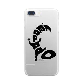 """ヒョウモントカゲモドキ""""LEOPARD"""" Clear smartphone cases"""