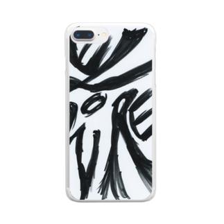 障がい者アート「花-FLOWER-」 Clear smartphone cases