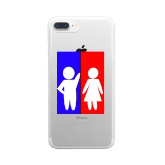 COOLMAN in TOILET Clear smartphone cases
