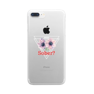 シラフロゴ Clear smartphone cases
