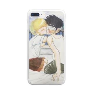 慈しみあう Clear smartphone cases