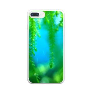 美しい水草 Clear smartphone cases