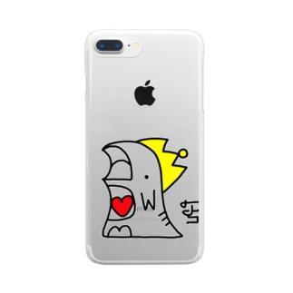 カラー恐竜くん Clear smartphone cases