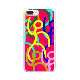 ダンス Clear smartphone cases