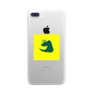 あにまるわに Clear smartphone cases
