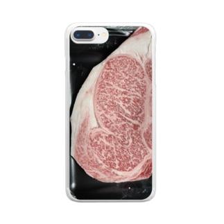 国産霜降りWAGYU Clear smartphone cases