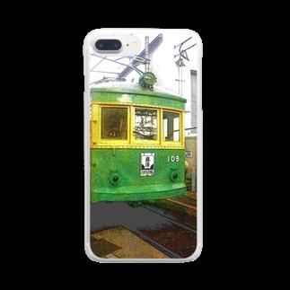 アズペイントの江ノ島電鉄 Clear smartphone cases